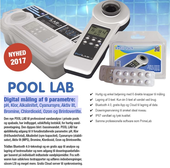 POOL LAB DIGITAL VANDMÅLER / POOLTESTER
